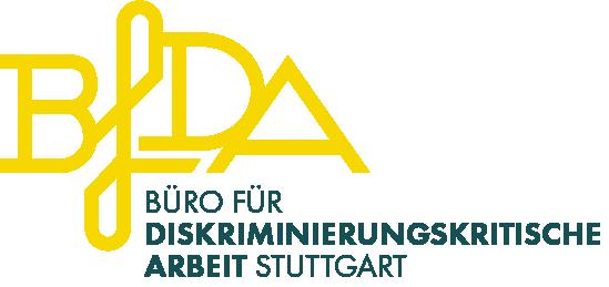 zurück auf Startseite - Logo Büro für Diskriminierungskritische Arbeit Stuttgart gelb und dunkelblau